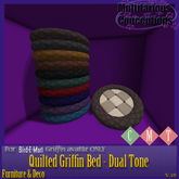 [MC]  Fleece Quilted Griffin Beds - Dual Tone[wear to unpack]