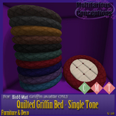 [MC]  Fleece Quilted Griffin Beds - Single Tone[wear to unpack]