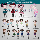 SEmotion Libellune Gothic Doll Animesh #17 UNCOMMON