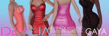 < IDEALIA > GAYA Dress FATPACK (GIFT : free for group member on store)