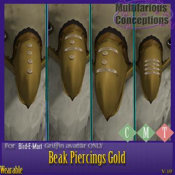 [MC] Griffin Beak Piercings Gold [wear to unpack]