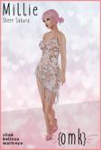 {omk} Millie Sheer Sakura Dress