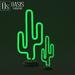 kiiya Decor: Neon Cactus Sculpture (Open Me)