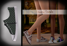 (*<*) 1313 Canvas Sneakers - Green Dot Special
