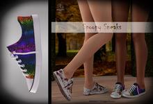 (*<*) 1313 Canvas Sneakers - Webs Rainbow
