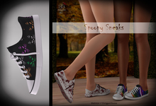 (*<*) 1313 Canvas Sneakers - Rainbow Cats