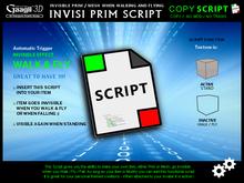 Gaagii 3D - Invisi Prim Script - Walk & Fly