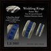 Wedding Rings - Aztec Sky Layered Enamel in Polished Platinum Bands by Trimmer Bay