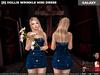 [S] Hollis Wrinkle Mini Dress Galaxy