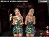 [S] Hollis Wrinkle Mini Dress Leaves