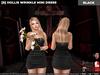 [S] Hollis Wrinkle Mini Dress Black