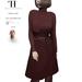 Thalia Heckroth - Rania coat BURGUNDY