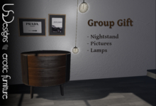 USDesigns Vandamm Nightstand and lamps Group gift