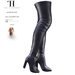 Thalia Heckroth - Asala Thigh High Boots NAVY