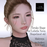 { cinderella }Teruko Shape for Lelutka Nova BoM Head