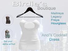 Birdie's Boutique - Andi's Cocktail Dress - White