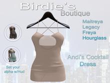 Birdie's Boutique - Andi's Cocktail Dress - Cream