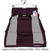 "Elegance Boutique - "" Ercye"" -  Skirt  - Plum - Legacy & Perky / Maitreya & Petite / Belleza /Slink"