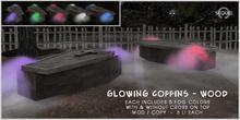 Sequel - Glowing Coffins - Wood - Halloween Decoration