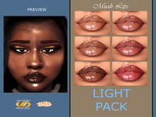 DRAFT Pigments. - Muah Lipgloss (LIGHT PACK)