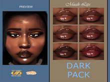 DRAFT Pigments. - Muah Lipgloss (DARK PACK)