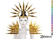Zibska ~ Hel Color Change Crown and Shoulder Spikes