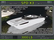 SPD X3 - Formula - WHITE - NEW !