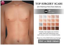 Izzie's - DEMO Top Surgery Scars (Maitreya Flat Chest)