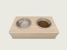 ValArt Bowls for Pets light wood