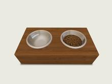 ValArt Bowls for Pets  dark wood