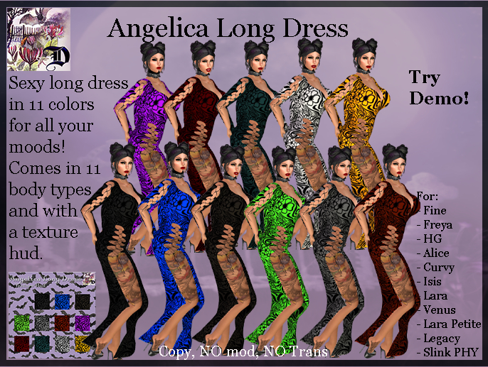 Angelica Long Dress (ADD ME)