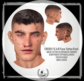 CREDO: F.E.A.R Individual Face Pack Tattoos