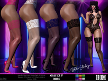 *PROMO Natalie Lace Top Sheer Stockings Mega Pack 57 Color Collection ,BOM, Bakes on Mesh, Lingerie, Stockings, All Body