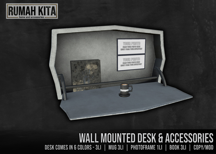 Rumah Kita - Wall Mounted Desk with Accessories