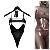 PlushStudios. Chasity Swimsuit - Black