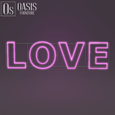 """Oasis: """"LOVE"""" Neon Sign (GIFT)"""