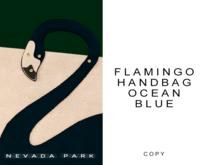 NEVADA PARK + Flamingo Handbag Gift | Ocean Blue
