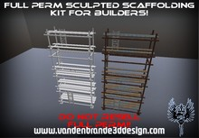 ~Full perm sculpted scaffolding kit + Maps and textures! 1 prims each part! see a example in world.