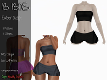 B BOS - Ember Outfit - Stripes Black (Add me)