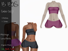B BOS - Ember Outfit - Stripes Pink (Add me)