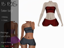 B BOS - Ember Outfit - Stripes Red (Add me)