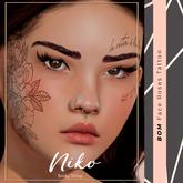 NBS* Face roses tattoo Genus (BOM & Applier) (wear to unpack)
