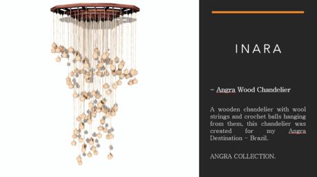 [ID] Angra Wood Chandelier Decor