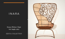 [ID] Kenya Wicker Chair w/ single sits (BOXED)