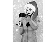 Mystique - Stylized Female Santa Wall Art Canvas