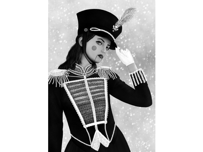 Noella - Stylized Female Nutcracker Wall Art Canvas