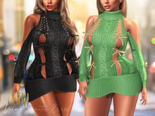 .::E.D.D.A::. Verona Sweater Dress {FATPACK}