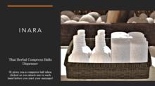 [ID] SPA Herbal Compress Balls & Towels Basket