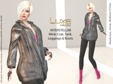 LUXE Paris INTERSTELLAR Mink Coat, Tank, Leggings, Boots