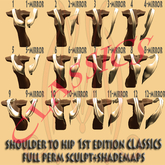 Shoulder to Hip shapes 1st edition CLASSICS drapes